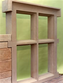 Stone window frame
